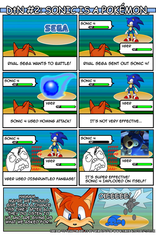 Dream To Nightmare Sonic Is A Pokemon